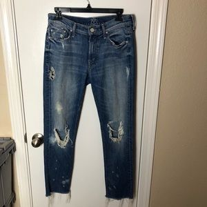 Mother Dropout Fray Jeans